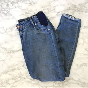 GAP Maternity Side Panel Distressed Skinny Jeans
